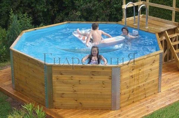 Бассейн в деревянной бане своими руками
